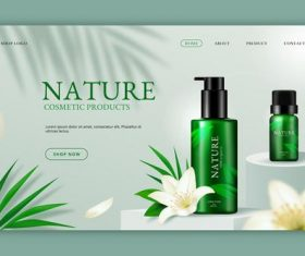 Nature skin care products vector
