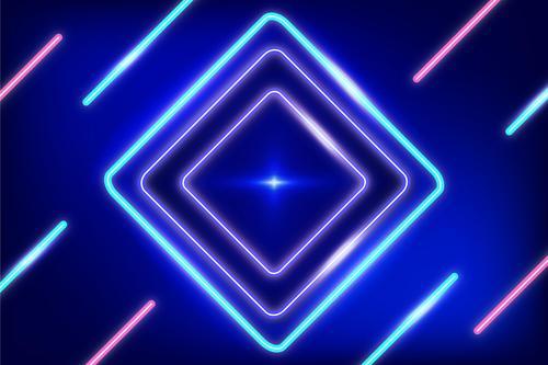 Neon overlay background vector
