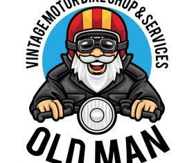 Old man icon vector