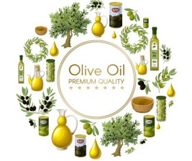 Olive oil premium quality vector