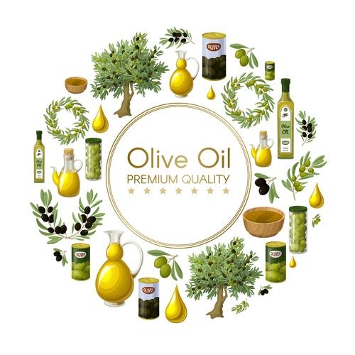 Olive oil premium quality vector