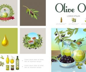 Olive oil product vector
