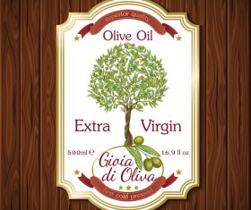 Olive product label vector