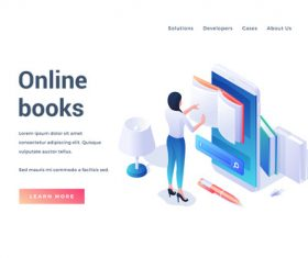 Online books illustration vector