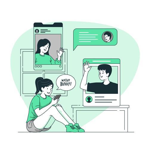 Online communication vector