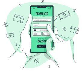 Online payment vector