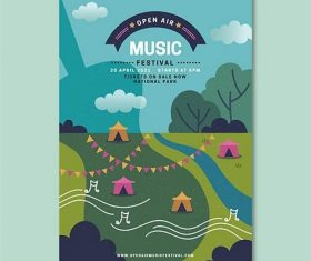 Open Air Music Festival Poster vector