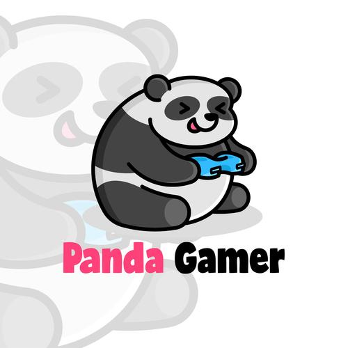 Panda gamer mascot logo vector