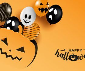 Paper cut background halloween vector