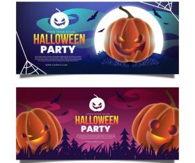 Party banner halloween vector