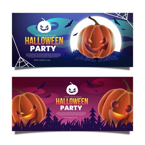 Party banner halloween vector