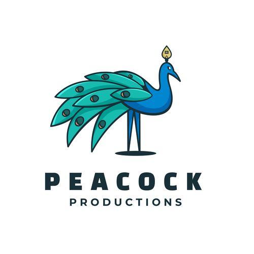 Peacock mascot logo vector