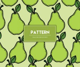 Pear decorative seamless pattern background vector