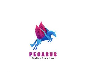Pegasus icon vector