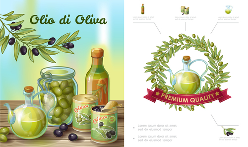 Pickled olives product vector