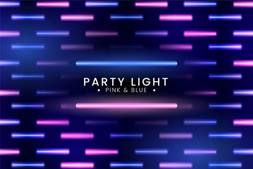 Pink and blue neon background vector