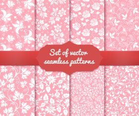 Pink flower seamless pattern vector