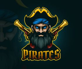 Pirates emblem gaming vector