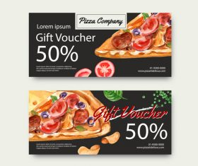 Pizza gift voucher vector