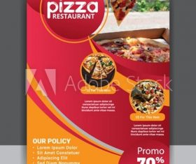 Pizza restaurant menu flyer vector