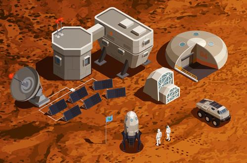 Planet exploration icon vector