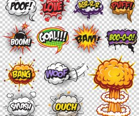 Pop art cartoon bubble font vector