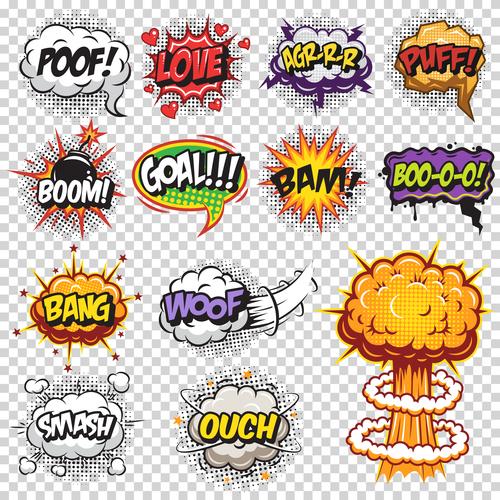 Pop art cartoon bubble font vector