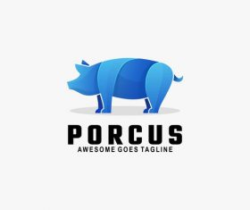 Porcus icon vector