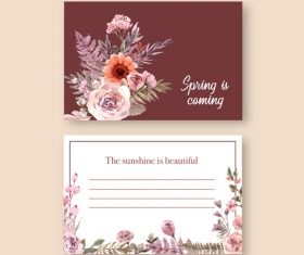 Postcard cover vector