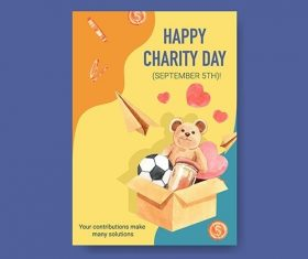 Poster Template with International Day Charity Concept vector