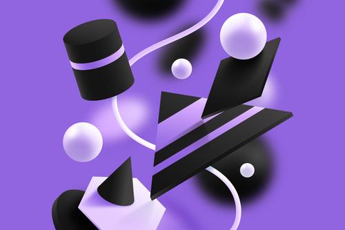 Purple background 3D graphic vector