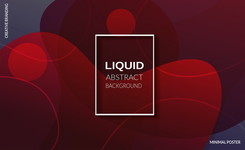 Red liquid background abstract vector