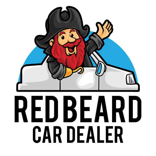 Redbeard car dealer icon vector