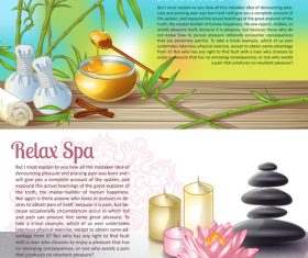 Relax spa salon banner vector