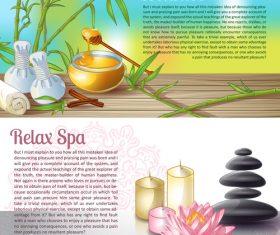 Relax spa salon banner vector
