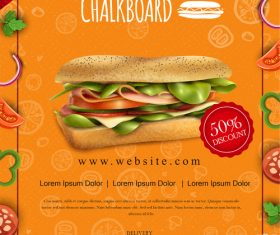 Restaurant Promotion Food Flyer Design vector