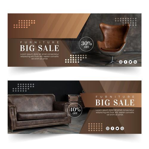 Retro furniture sales vector