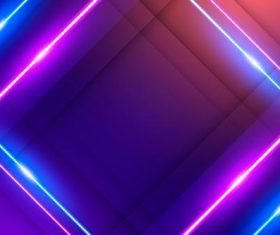 Rhombus neon background vector