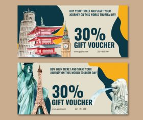 Roman travel voucher banner vector