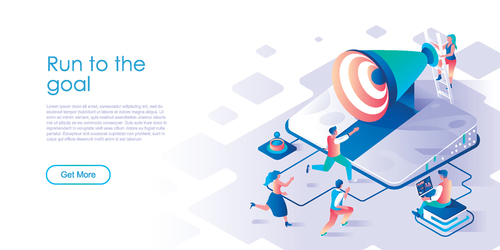 Run to the goal isometric template vector