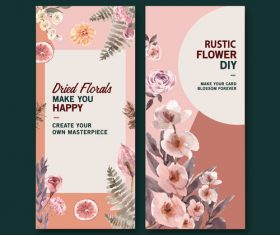 Rustic flower diy banner vector
