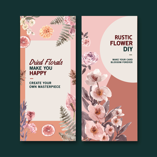 Rustic flower diy banner vector