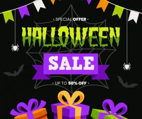 Sale background halloween vector