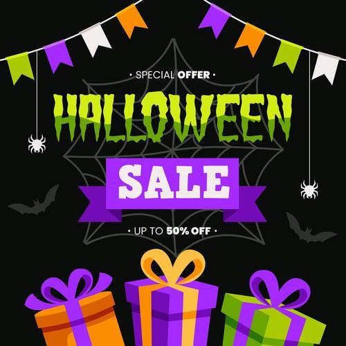 Sale background halloween vector