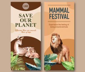 Save our planet flyer design vector