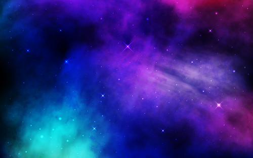 Shining starry sky background vector