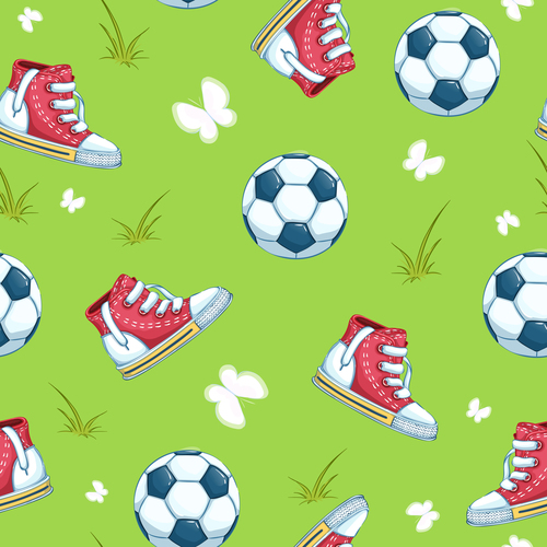 Shoes and ball background vector