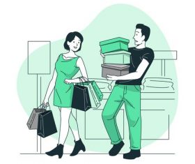 Shopping flat design vector