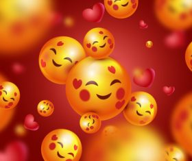 Smile emoticon background vector