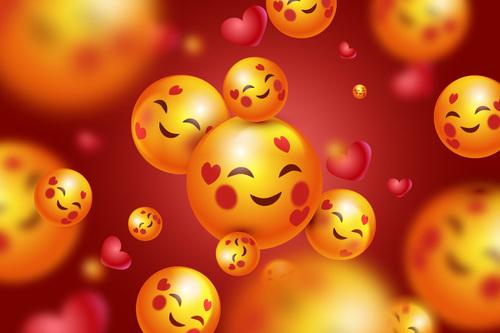 Smile emoticon background vector